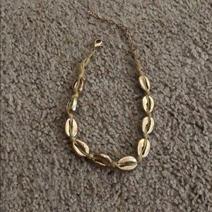 Free people gold shell necklace